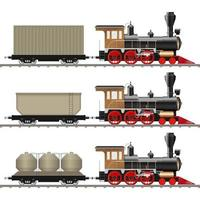 klassische Lokomotive und Wagen isoliert