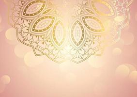 eleganter Mandala Hintergrund vektor