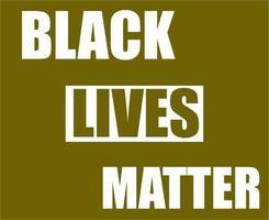 Flagge schwarz lebt Materie
