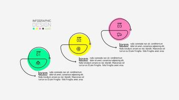 tre steg cirklar vektor