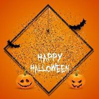 halloween bakgrund med konfetti vektor