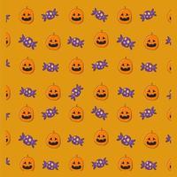 halloween jack-o-lykta mönster vektor