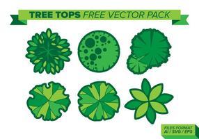 Träd toppar gratis vektor pack