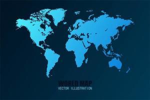 världskarta isolerade vektor