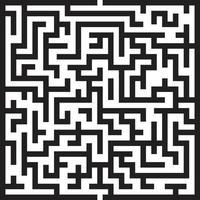 labyrint labyrint isolerad vektor