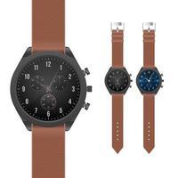 realistische stilvolle elegante Armbanduhr vektor