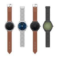 Satz realistische Armbanduhr isoliert vektor