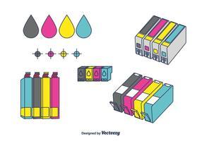 Tintenpatronen-Vektor