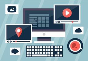 Videobearbeitung Business Vector Illustration