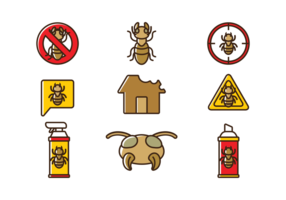 Termiten-Vektor-Icons