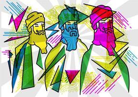 Gratis Guru Vector Illustration