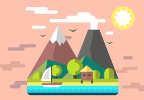 Gratis Mountain Shack Vector Illustration
