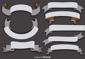 Set von 8 Vektor-Flachbänder