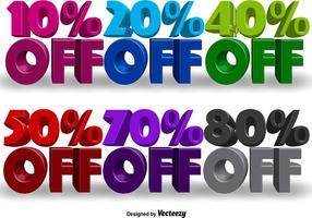Vector Werbe-3D-Banner