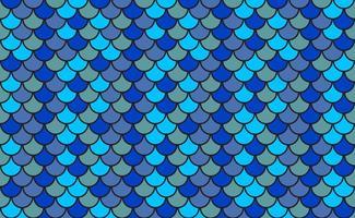 Vector Blue Muster Von Fisch Skalen