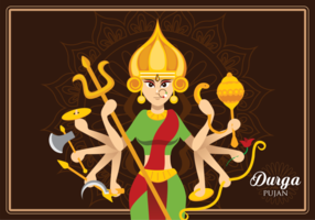 Gudinna Durga Illustration