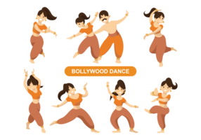 Indisk Bollywood Dancing Vector