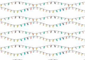 Jul dekorativa lampor vektor