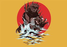 Godzilla vektorkunst