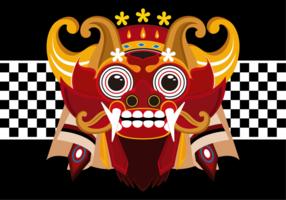 Barong Bali Vector Illustration