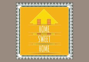 Lace Willkommen Home Vector