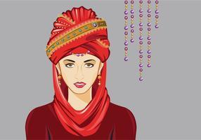 Kvinna med Turban Vector