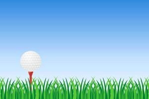 Golfball auf grünem Gras vektor