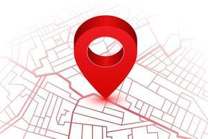 Karte mit Standort-Pin vektor