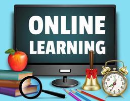 '' onlineinlärning '' bakgrund vektor