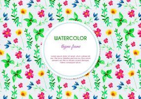 Gratis Vector vattenfärg ört och blomma bakgrund
