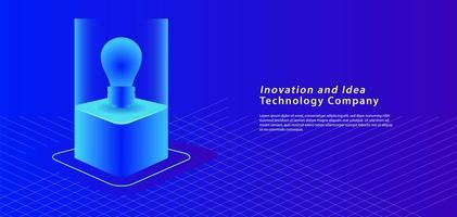 Isometrisches Ideenbanner 3d auf blau vektor