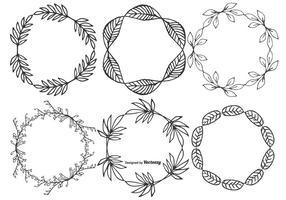 Nette Hand gezeichnete skizzenhafte Blatt-Rahmen vektor