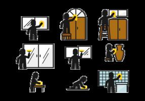 Torka Stickman-ikonen vektor