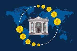 Global Economy-Konzept in flachem Design vektor