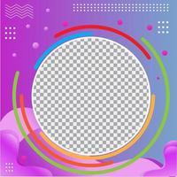 moderner Gradienten-Social-Media-Profilrahmen vektor