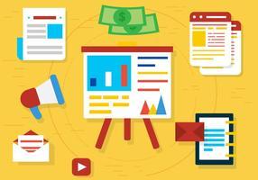Kostenlose Flat Web Elements und Icons Vector Design