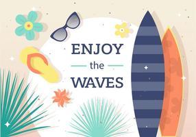Genießen Sie den Surf Vector Hintergrund