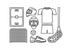 Unihockey Ausrüstung Vektoren