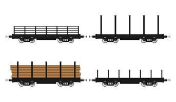 Satz Zugwagen isoliert