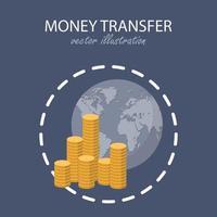 pengaröverföring koncept. online betalning. vektor