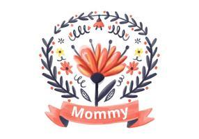Mommy akvarell bakgrund vektor