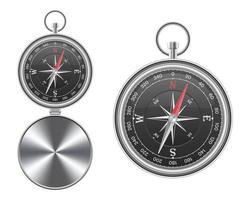 två magnetiska kompasser isolerade vektor