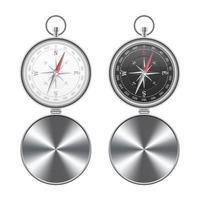 uppsättning magnetisk kompass isolerad vektor