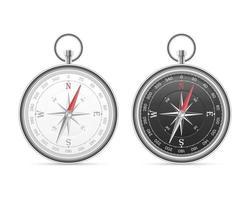 Magnetkompass isoliert vektor