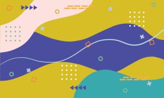 geometrische Formen des abstrakten Hintergrunds im Memphis-Stil