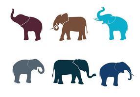 Elefant Silhuett Isolerad Vektor