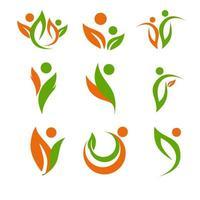 Gesundheits- und Fitness-Logo-Set vektor