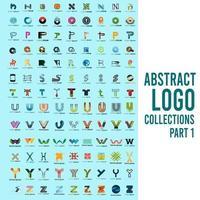 abstrakte Logosammlungen Teil 1 vektor