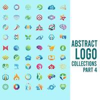 abstrakta logosamlingar del 4 vektor