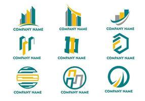 finans logotypuppsättning vektor